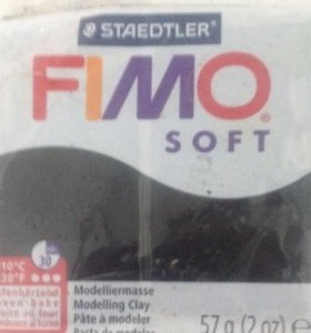 Немецкая пластическая глина Fimo soft / черный