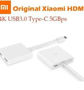 Оригинальный Xiaomi Тип USB C к HDMI Кабель-адапте