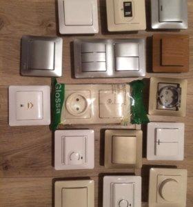 Выключатели, розетки, термостаты, димер Легранд,шэ