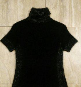 Черный свитер с короткими рукавами, S (42-44)