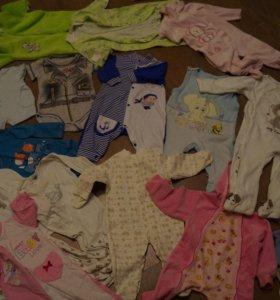 много детской одежды с 0 до года