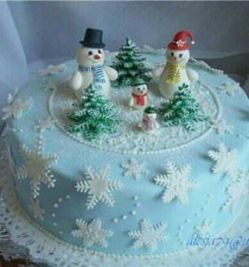 новогодные торты