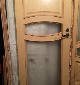 Двери межкомнатные с замком и наличниками
