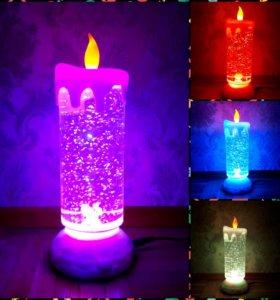Ночник свечка новый /лампа
