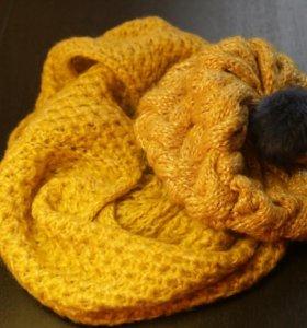 Шапка + шарф снуд