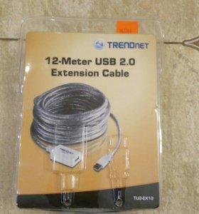 Кабель Trendnet 12-метровый USB 2.0