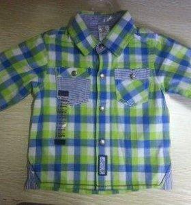Стильная рубашка для маленького модника на 3мес