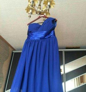 Новое Суперское синее платье! 48-50р