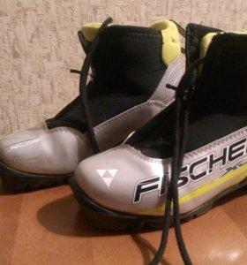 Лыжные ботинки fischer р-р 34, по стельке 21см