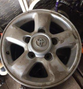 Оригинальные диски на Toyota LC - 100