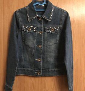 Джинсовая куртка для девочки- подростка
