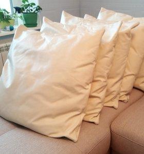 Подушка из натуральной кожи