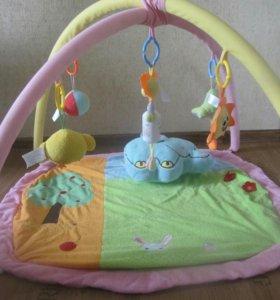 Детский развивающий коврик и растяжка в кроватку