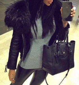 Дубленка куртка с мехом