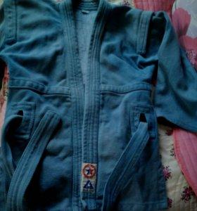 Куртка для самбо на 8-11 лет