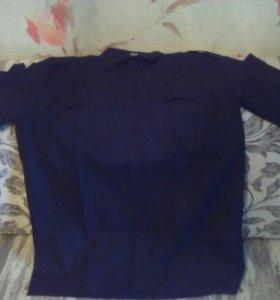 Рубашка мужская чёрная, новая,с коротким рукавом