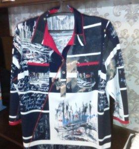 блуза-рубашка 56-58 б/у