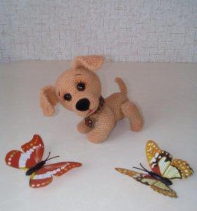 Вязаная игрушка - забавный щенок!