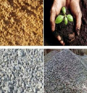 Песок щебень торф бетон