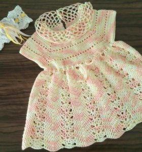 Вязанное платье для девочки