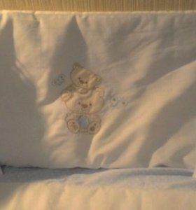 Бортики и покрывало для детской кроватки