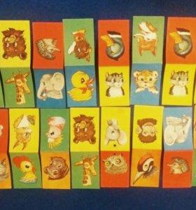 Елочные флажки СССР животные винтаж