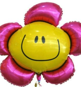 Гелевый шар цветочек