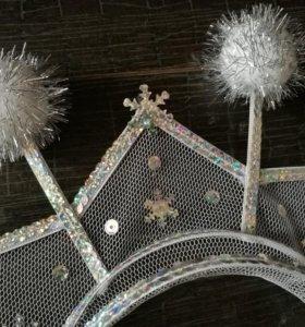 Корона для снежинки Новый год