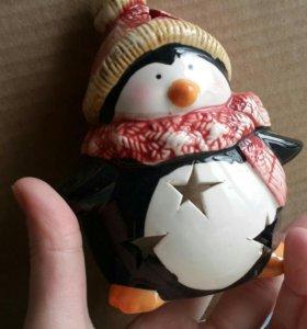 Подсвечник пингвин
