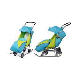 санки-коляска с колесами.