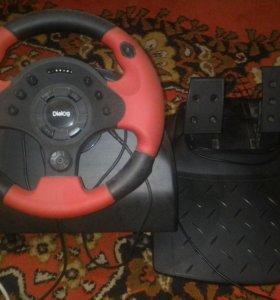 Руль с педалями Dialog GW-10WR