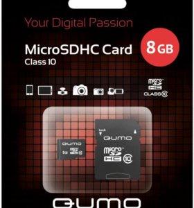 Карта памяти QUMO microSDHC Class 10 8 Гб