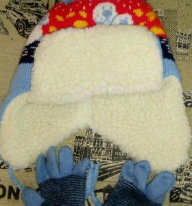 Шапочка и перчатки для малыша