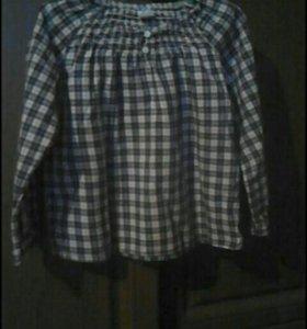 Рубашка для девочки 3-4года