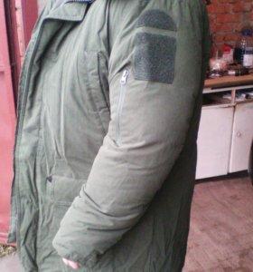 Куртка зимняя повседневная защитного цвета