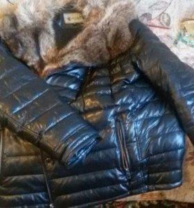 Продам мужскую куртку на мехе волка
