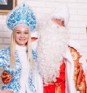Волшебный дед мороз и снегурочка, с подарками