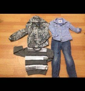 Пакет одежды на мальчика 110-116