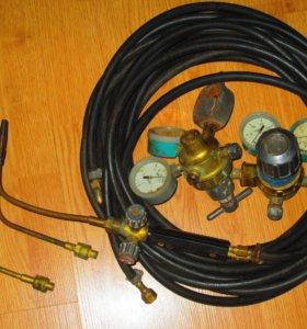 Шланги с горелкой и редукторами для газосварки