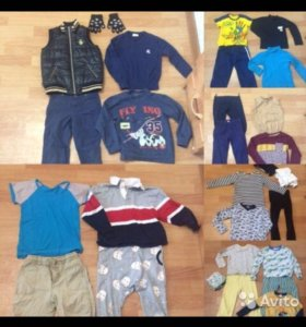 Большой пакет одежды на мальчика 110-116