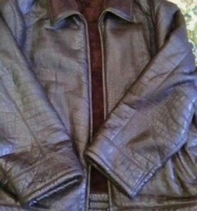 Куртка мужская кожаная на меху