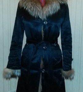 Зимнее пальто на меху из кролика