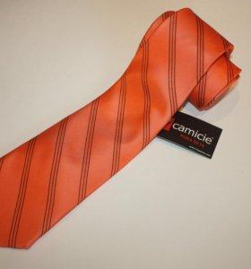 Стильный оранжевый галстук 7 camicie