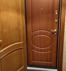 Металлическая дверь.