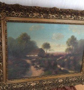 Старинная Голландская картина