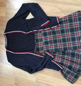 Кардиган и юбка школьные