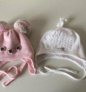 Зимняя шапка на малышку 36-38 р