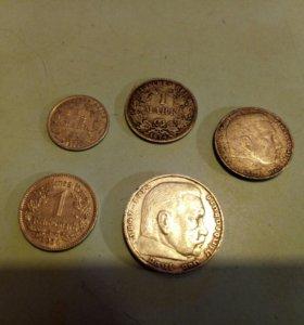 Монеты Германии серебро