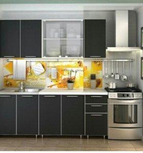 """Кухня """"Радуга"""" 2.0м. Цвет Черный"""