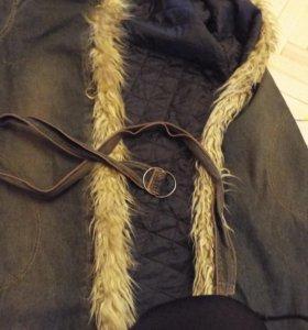Джинсовое пальто на синтепоне